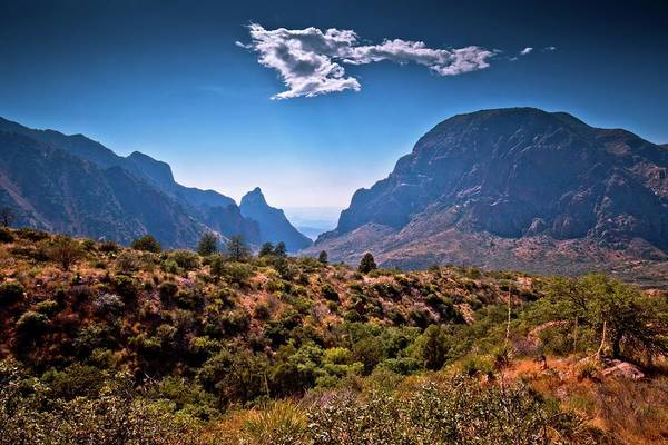 Middle Of Nowhere Photograph - The Window In The Chisos Mountains by Linda Unger