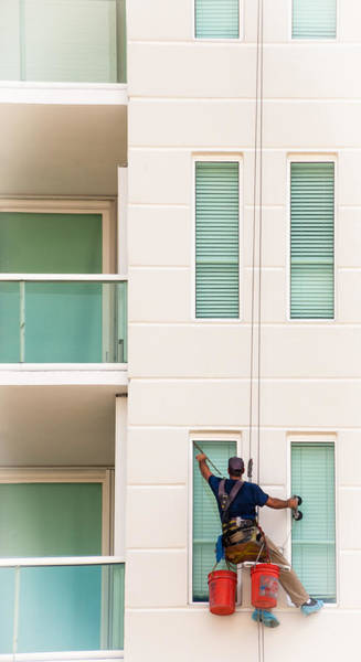 Photograph - The Window Washer by Frank Mari
