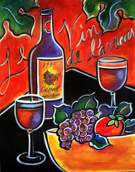 Painting - The Wine Of Love by Jan Oliver-Schultz