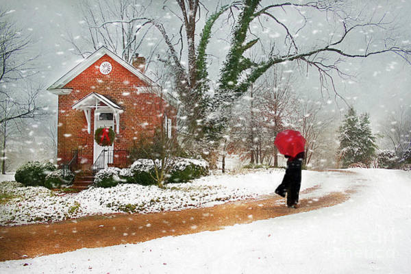 Wall Art - Photograph - The Winter Cottage by Darren Fisher