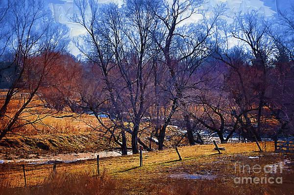 Digital Art - The Winter Creek by Kirt Tisdale