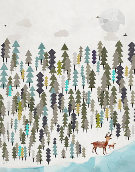 Fawn Painting - The Winter Forest by Bri Buckley