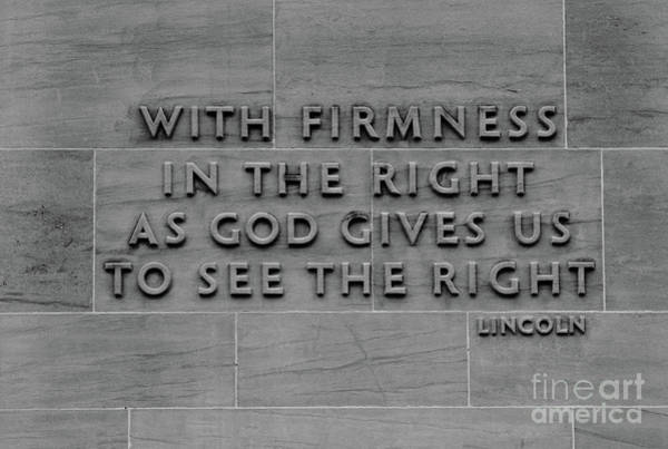 Photograph - The Wisdom Of Abraham Lincoln by James Brunker
