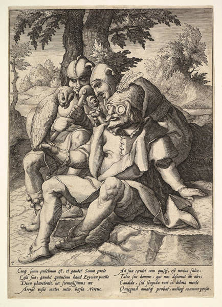 Drawing - The Wisdom Of Fools From Six Proverbs by Jacques de Gheyn II