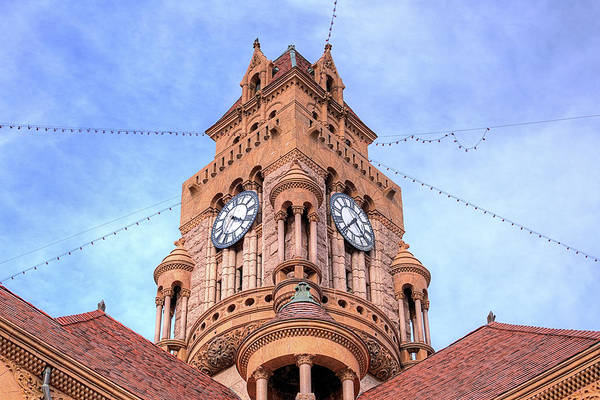 Wall Art - Photograph - The Wise County Courthouse Clock Tower by JC Findley
