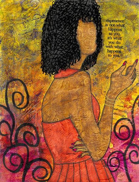 Wall Art - Painting - The Wise Lady Who Lives Next Door by Angela L Walker