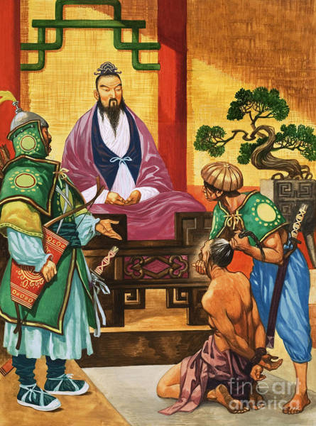 Justice Painting - The Wise Man Of China  Confucious by Peter Jackson