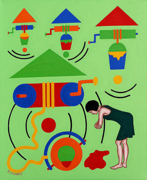 Wishing Well Painting - The Wishing Well by Patrick J Murphy