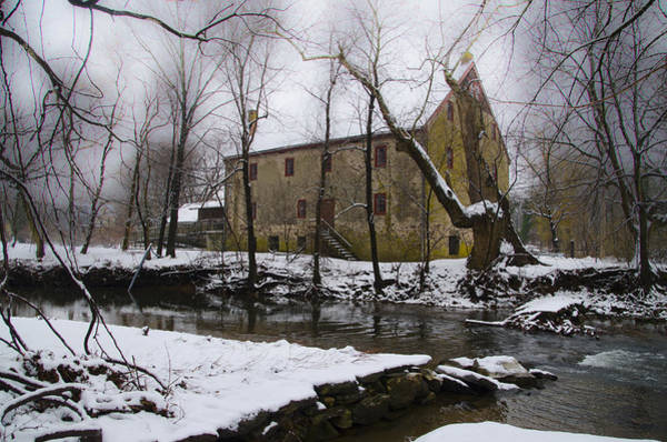 Wall Art - Photograph - The Wissahickon Creek And Mather Mill In The Snow by Bill Cannon