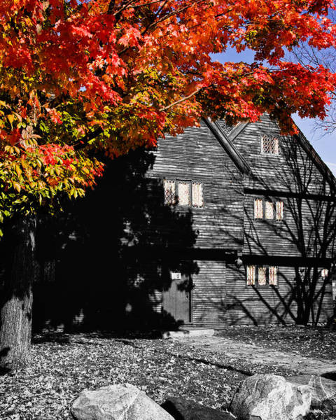 Photograph - The Witch House In Autumn by Jeff Folger