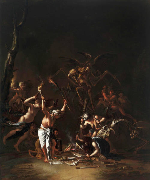 Italian Painters Wall Art - Painting - The Witches' Sabbath by Salvator Rosa