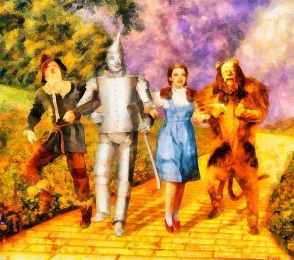 Stardom Painting - The Wizard Of Oz Cast by John Springfield