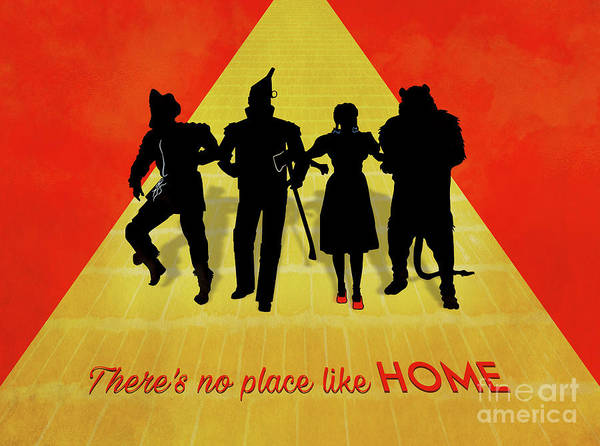 Famous Places Digital Art - The Wizard Of Oz Minimalist Movie Quote Poster Art 2 by Nishanth Gopinathan
