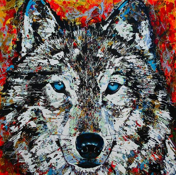 Wall Art - Painting - The Wolf by Angie Wright