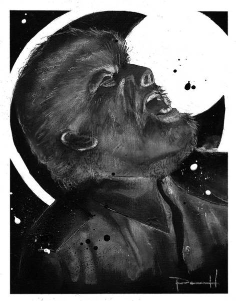 Mixed Media - The Wolf Man by Sean Parnell