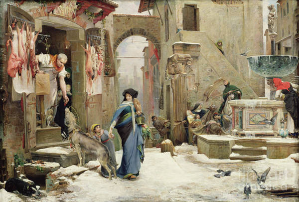 Assisi Painting - The Wolf Of Gubbio by Luc Oliver Merson