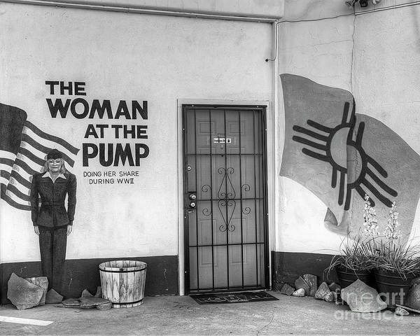 Wall Art - Photograph - The Woman At The Pump In Black And White by Twenty Two North Photography