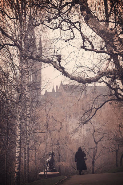 Wintry Photograph - The Woman In Black by Carol Japp
