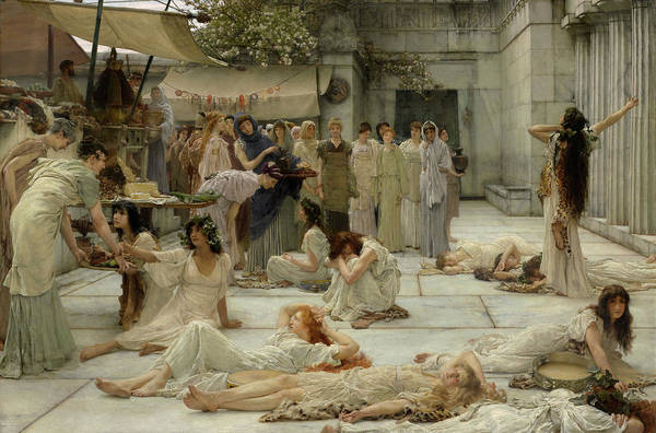 God Of War Wall Art - Painting - The Women Of Amphissa by Sir Lawrence Alma-Tadema