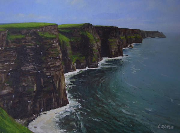 Irish Landscape Painting - The Wonderful Cliffs Of Moher by Eamon Doyle