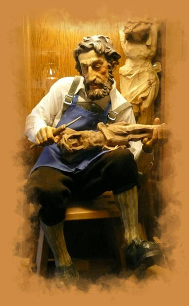 Wall Art - Photograph - The Wood Carver by Lori Seaman