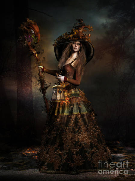 Wall Art - Digital Art - The Wood Witch by Shanina Conway