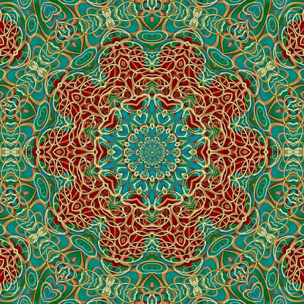 Sacred Heart Mixed Media - The Wooden Heart Mandala,giving Calm by Pepita Selles