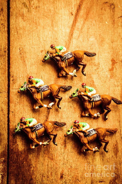 Thoroughbred Racing Wall Art - Photograph - The Wooden Horse Race by Jorgo Photography - Wall Art Gallery