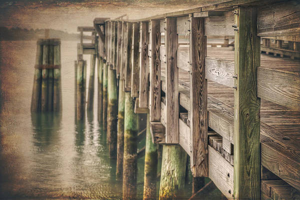 Wood Pile Photograph - The Wooden Pier by Carol Japp