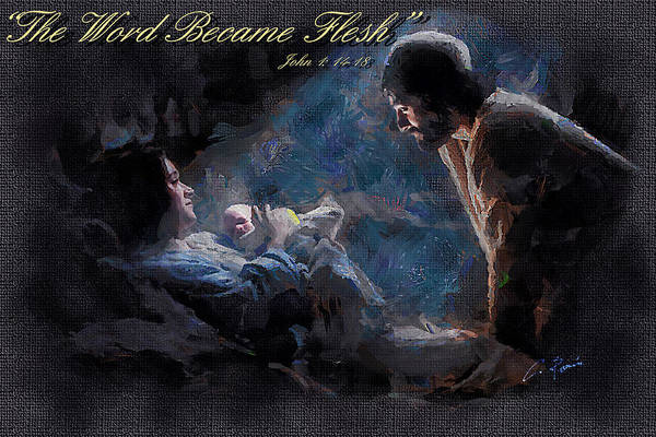 Digital Art - The Word Became Flesh by Charlie Roman