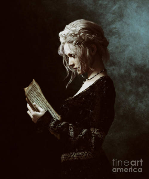 Woman Reading Wall Art - Digital Art - The Word by Shanina Conway