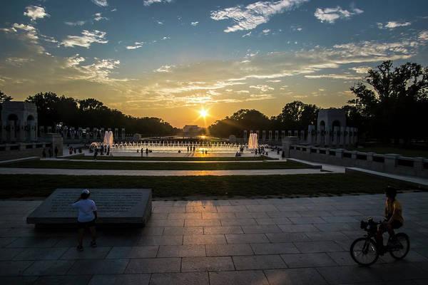Photograph - The World War 2 Memorial At Sunset by Sven Brogren