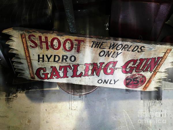 Wall Art - Photograph - The World's Only Gatling Gun by Steven Digman