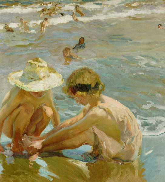 Sand Castle Painting - The Wounded Foot by Joaquin Sorolla y Bastida