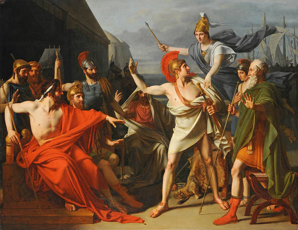 Wall Art - Painting - The Wrath Of Achilles by Michel-Martin Drolling
