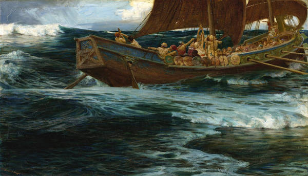 Herbert Draper Painting - The Wrath Of The Sea God by Herbert James Draper