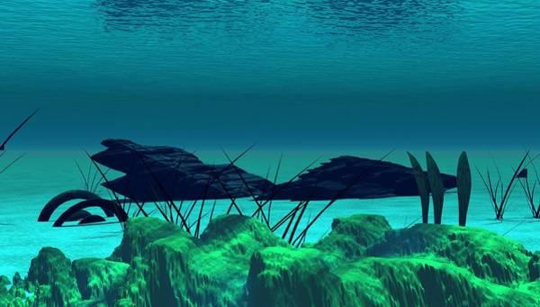 Reef Diving Digital Art - The Wreck Diving The Reef Series by David Lane