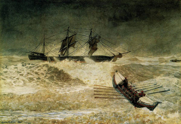 Waves Drawing - The Wreck Of The Iron Cloud, 1881 by Winslow Homer