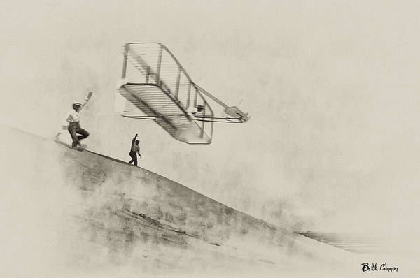 Photograph - The Wright Brothers At Kittyhawk by Bill Cannon