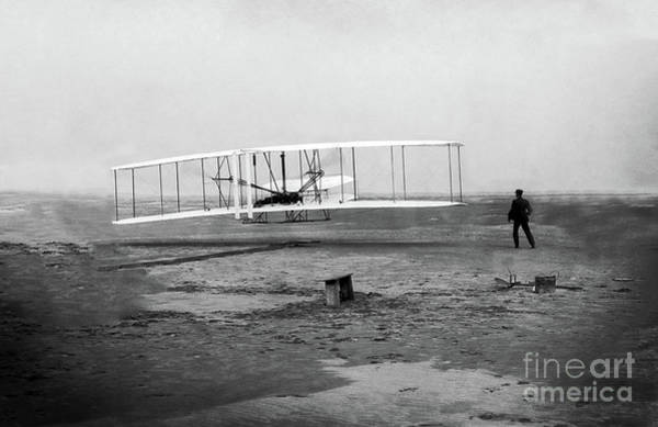 Photograph - The Wright Brothers' First Powered Flight - Centered Image by Doc Braham