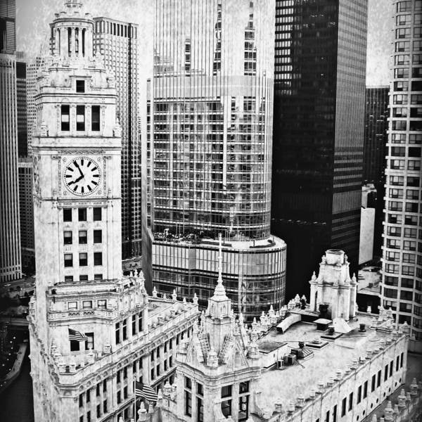 Chicago River Digital Art - The Wrigley In Bw by Mary Pille