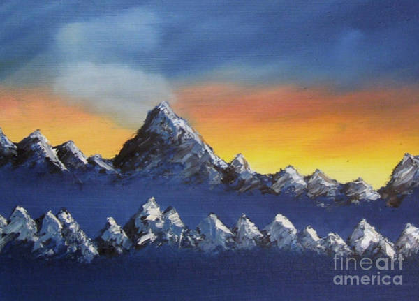 Painting - the Wrong side of Shark's Tooth pass by Marianne NANA Betts