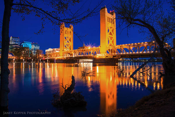 Photograph - The Yellow Bridge  by Janet Kopper
