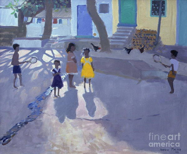 Wall Art - Painting - The Yellow Dress, Udaipur, India by Andrew Macara