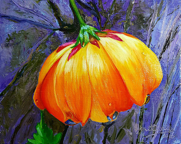 Painting - The Yellow Flower by Janet Garcia