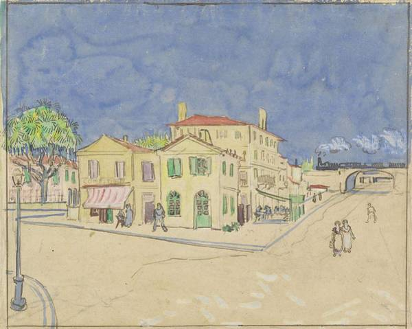 Painting - The Yellow House The Street Arles October 1888 Vincent Van Gogh 1853  1890 by Artistic Panda