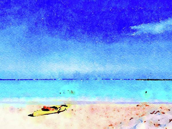 Painting - The Yellow Kayak by Angela Treat Lyon