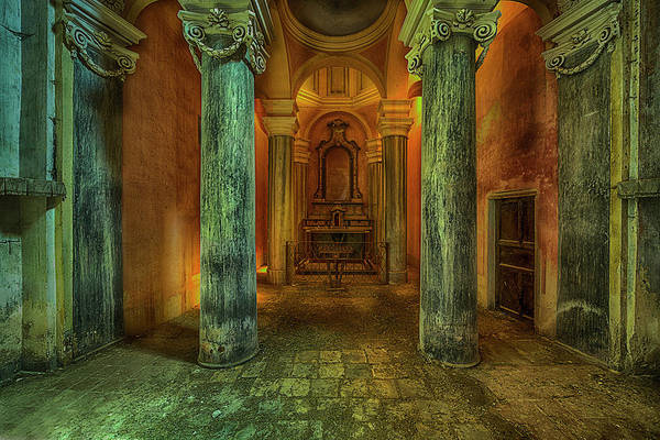 Photograph - The Yellow Light Church 2 - La Chiesa Della Luce Gialla 2 by Enrico Pelos