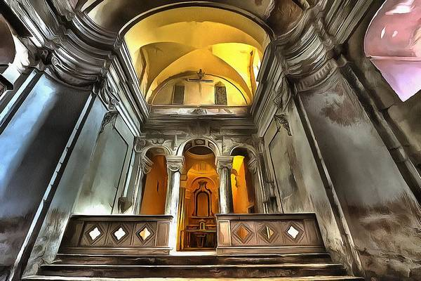 Photograph - The Yellow Light Church 1p - La Chiesa Della Luce Gialla 1p by Enrico Pelos