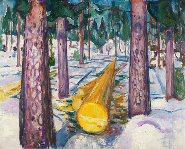 Norwegian Painting - The Yellow Log by Edvard Munch